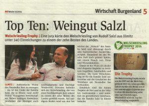Weingut Salzl Top 10